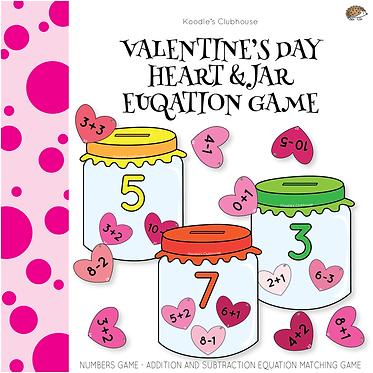 Valentine's Day Math Equation Game