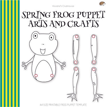 Spring Frog Puppet Arts and Crafts