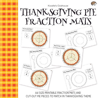 Thanksgiving Pie Fraction Mats