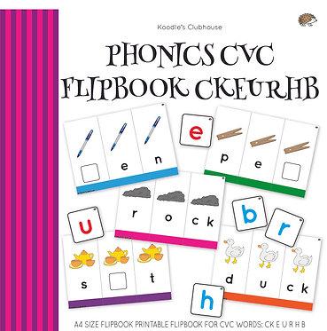 Phonics CVC Flipbook CKEURHB