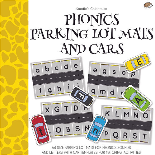Phonics Parking lot Mats and Cars