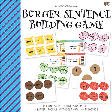 Burger Sentence Building Game
