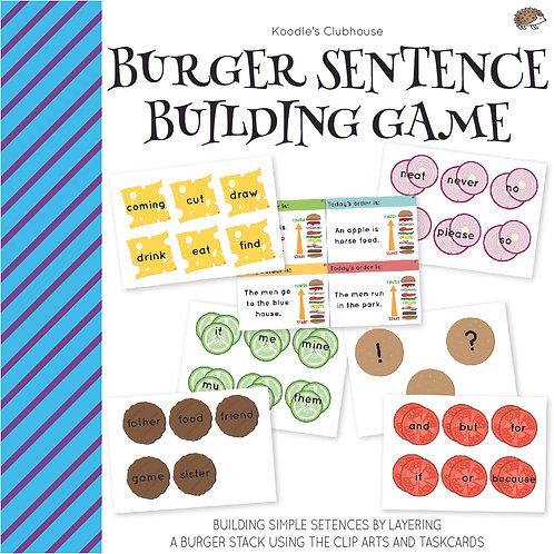 Burger Sentence Building Game