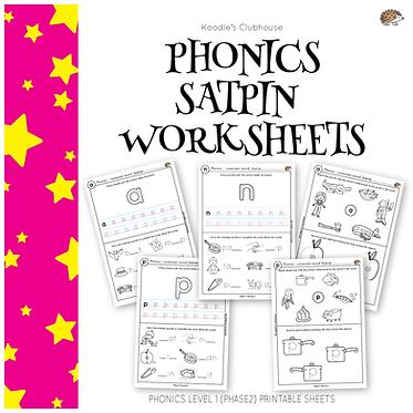 Phonics SATPIN worksheets