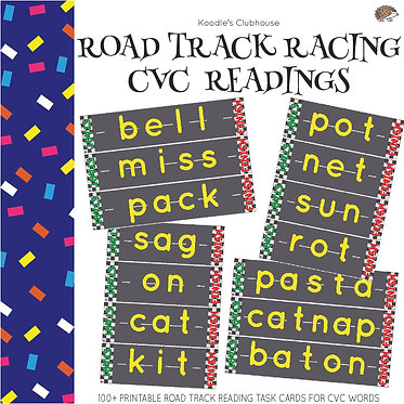 Reading Road Track Game