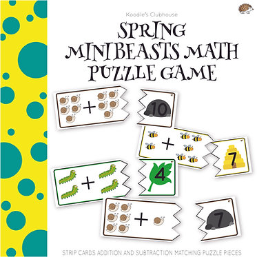 Spring Mini-beast Math Puzzle Game