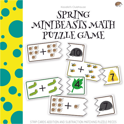 Spring Mini-beast Math Puzzle Game