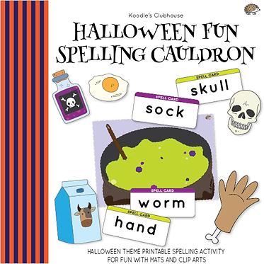 Halloween Fun Spelling Cauldron