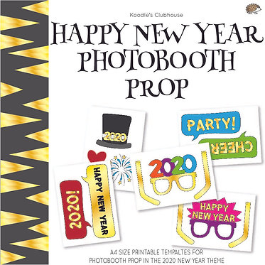 Happy New Year Photo booth Prop