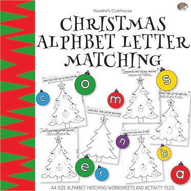 Christmas Alphabet Letter Matching
