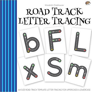 Road Track Letter Tracing