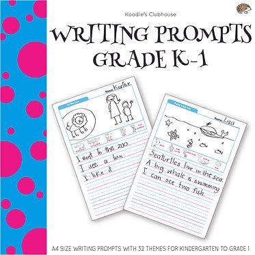Writing Prompts Kindergarten to Grade 1