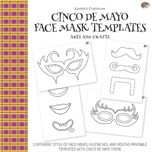 Cinco De Mayo Face Mask Arts and Crafts