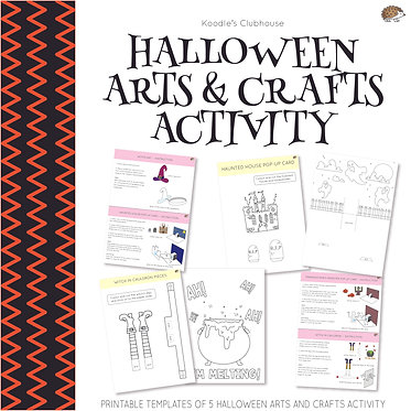 Halloween Arts and Crafts Activity