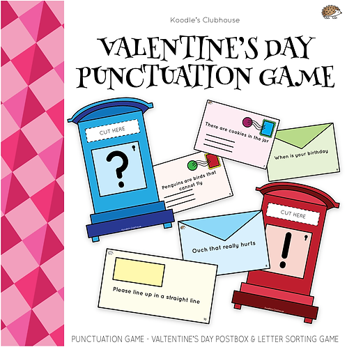 Valentine's Day Postbox Punctuation Game