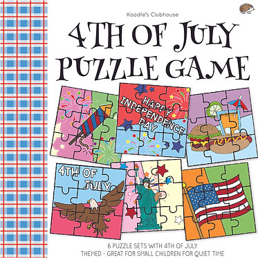 4th of July Puzzle Pieces Game