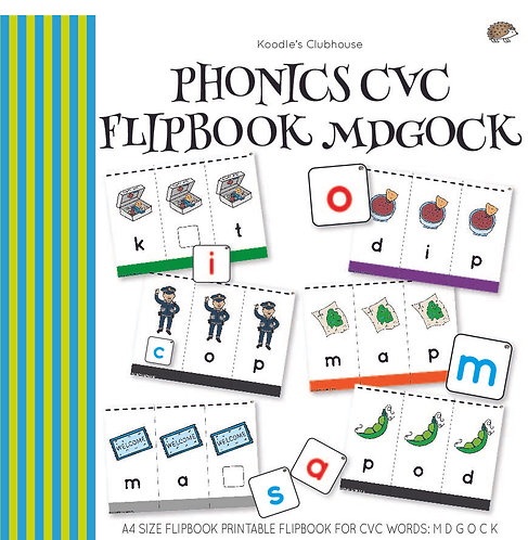 Phonics CVC Flipbook MDGOCK