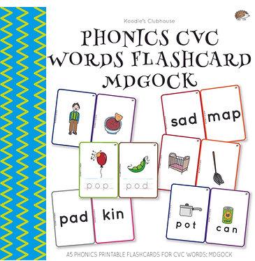 Phonics CVC Words Flashcard MDGOCK