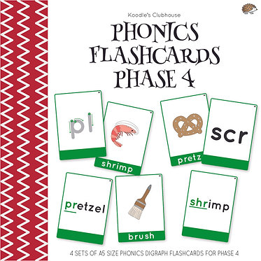 Phonics Flashcards Phase 4