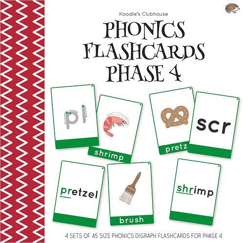 Phonics Flashcards Phase 4