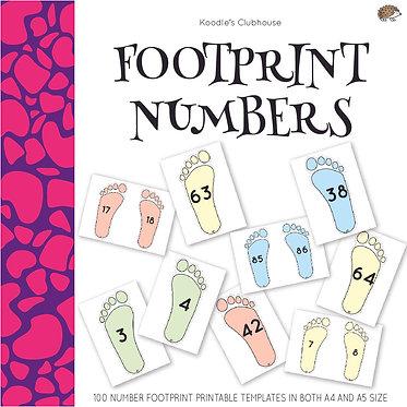 Footprint 1 to 100 Numbers Game
