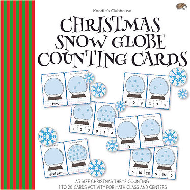 Christmas Snow Globe Counting Cards