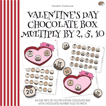 Valentine's Day Multiplication Chocolate Box