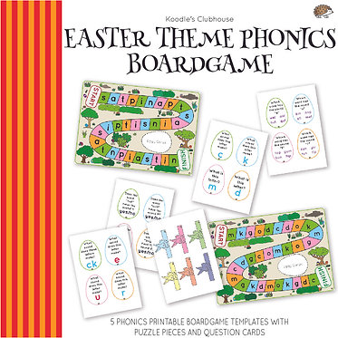 Easter Theme Phonics Board game