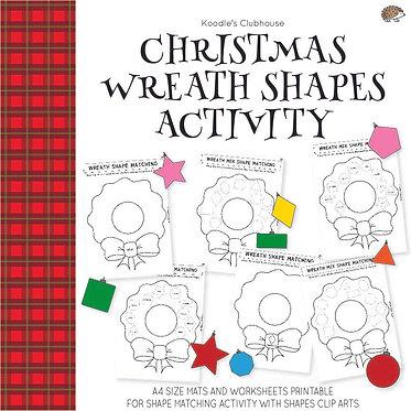 Christmas Wreath Shape Activity