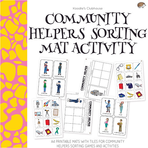 Community Helpers Sorting Mats Activity