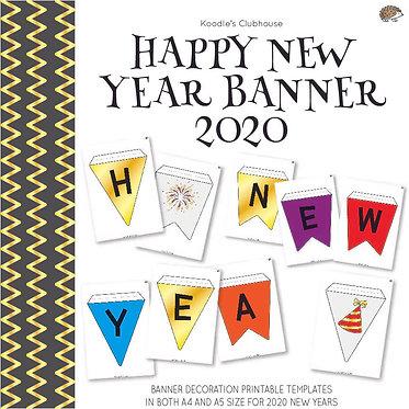 Happy New Year Banner 2020