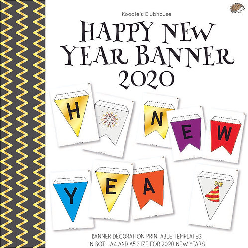 Happy New Year Banner 2020