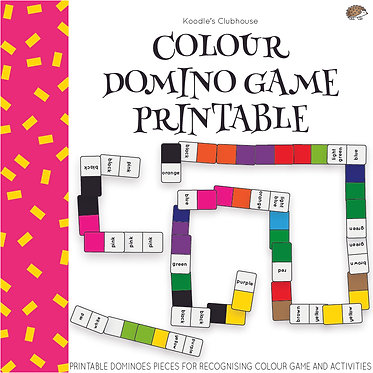 Color Domino Game Printable