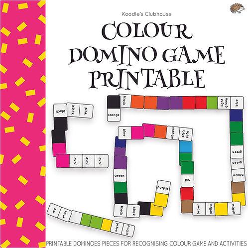 Color Domino Game Printable