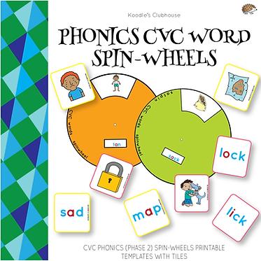 Phonics Spin Wheel for CVC Words