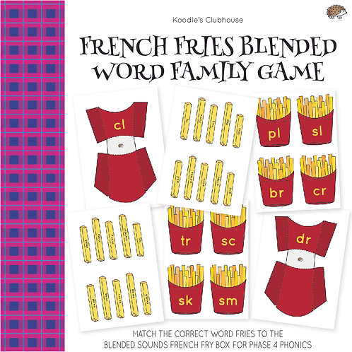 French Fries Blended Word Family Game