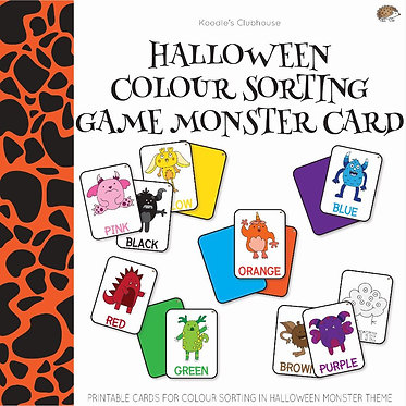 Halloween Color Sorting Card Game