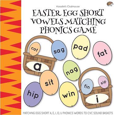 Easter Egg Short Vowels Phonics Game