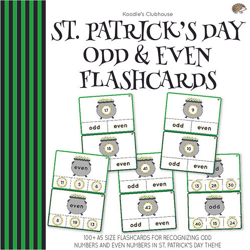 St. Patrick's Day Odd and Even Flashcards