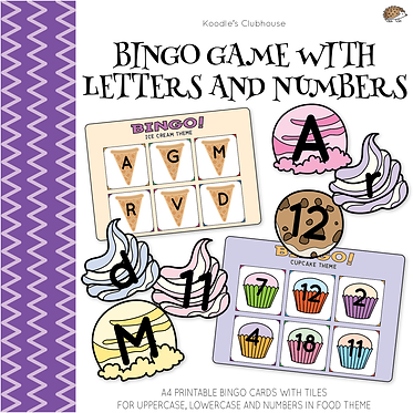 Bingo Game with letters and numbers