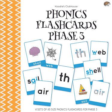 Phonics Flashcards Phase 3