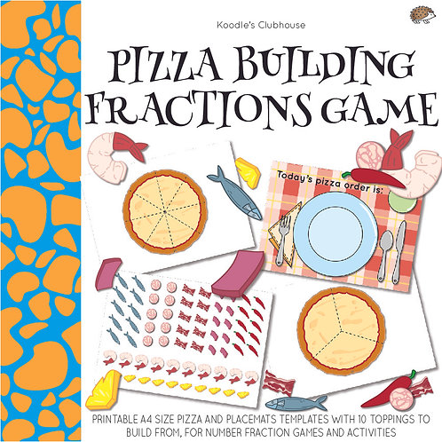 Pizza Building with Fractions Game