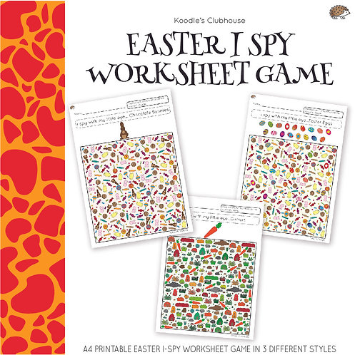 Easter Theme I Spy Worksheets