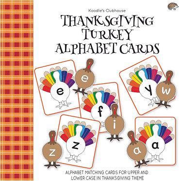 Thanksgiving Turkey Alphabet Cards