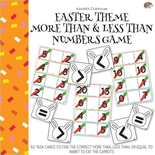 Easter More than, Less than Math Game
