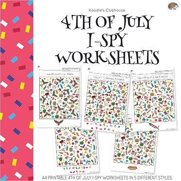 4th of July I-spy worksheets