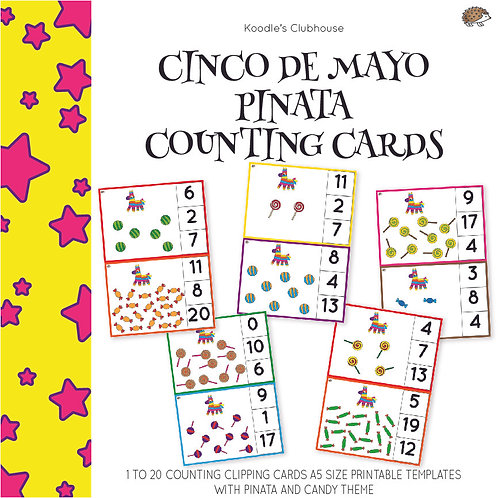 Cinco De Mayo Pinata Counting Task Cards