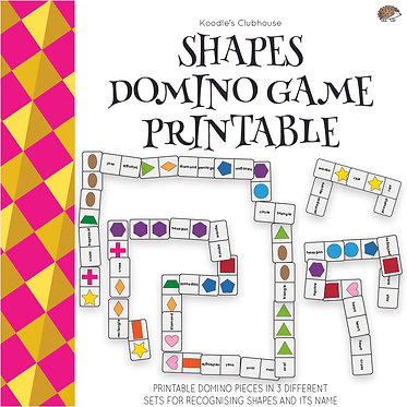 Shapes Domino Game Printable
