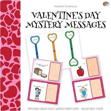 Valentine's Day Noun Sight Words Game