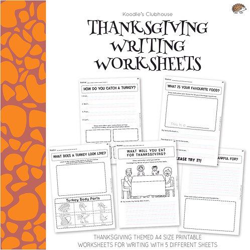 Thanksgiving Writing Worksheets